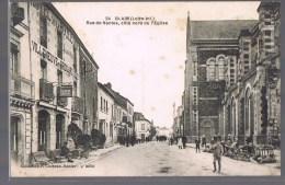 BLAIN . Rue De Nantes , Côté Nord De L'Eglise . Animé . - Blain