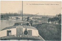 LA FERTE SOUS JOUARRE - Bords De Marne - Péniche, Mariniers, Chevaux De Halage - La Ferte Sous Jouarre