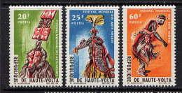 Hte VOLTA - N° 156/158** - FESTIVAL MONDIAL DES ARTS NEGRES - Haute-Volta (1958-1984)