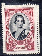ASTRID - Neuf Sans Gomme - Commemorative Labels