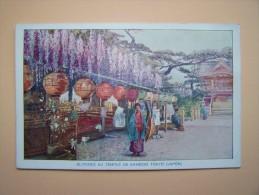 JAPON JAPAN TOKYO Glycines Au Temple De KAMEIDO Carte Non écrite - Tokyo