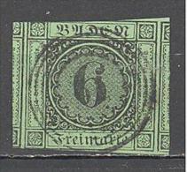 Allemagne Bade: Yvert N° 3°; Used; 3 Belles Marges Dont 2 Voisins; Cote 20.00 - Bade