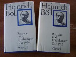 Heinrich BÖLL - WERKE 1 & WERKE 2 ROMANE Und ERZÄHLUNGEN 2 BÄNDEN 1947-1951 Und 1951-1954 - Livres, BD, Revues