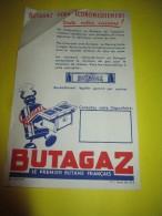 Publicité /Papillon Recto-verso / BUTAGAZ/Le Premier Butane Français /Vers 1950     GEF45 - Electricity & Gas