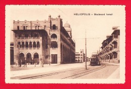 E-Egypte-111P17 HELIOPOLIS, Quartier Du Caire, Boulevard Ismail, Tramway, Cpa BE - Cairo