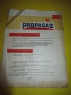 Publicité /Prospectus De 8 Pages / PROPAGAZ/Le Premier Propane Français/ Vers 1950     GEF46 - Electricity & Gas