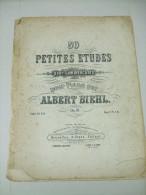 Partitions 50 Petites Etudes Pour Commençants Pour Piano Par Albert BIEHL Op 31 - Cahier 1 - Aprendizaje