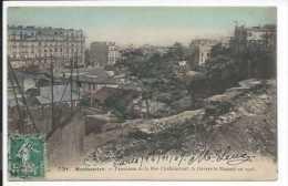 Paris (75) CPA Montmartre - Panorama De La Rue Caulaincourt ( à Travers Le Maquis) En 1905 - Zonder Classificatie