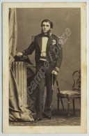 CDV Circa 1860 Disdéri. Lt De Vaisseau (futur Vice-amiral) Charles Marie Duperré. Baltique. Aide  Camp Prince Impérial. - Photographs