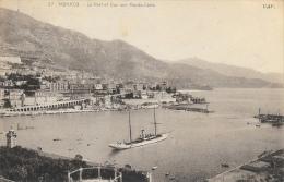 Monaco - Le Port Et Vue Sur Monte-Carlo - Bateau Dans Le Port - Carte CAP - Harbor