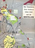 Dépliant Brochure - Toerisme Tourisme Kaart Transport Bus Vervoer - Expo Brussel 1958 - Cartes