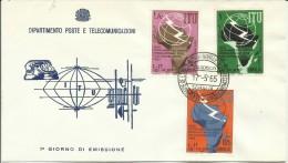 SOMALIA 1965 POST AFIS UIT ITU UNIONE INTERNAZIONALE TELECOMUNICAZIONI INTERNATIONAL UNION TELCOMMUNICATIONS  FDC - Somalia (1960-...)
