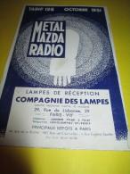 Dépliant à 5 Volets / Metal Mazda Radio / Tarif/ Compagnie Des Lampes /Saint Ouen /   1931   GEF55 - Electricity & Gas
