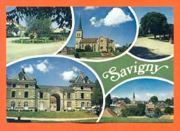 """Dpt  52  Savigny  """"  Vue Generale , L'eglise , Le Chateau  """"  Cpm GF - Autres Communes"""