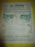 Prospectus Recto-Verso/ Instruments Agricoles/ Cultivateurs/TH. PILTER/Paris/  Vers 1950  VP671 - Agriculture