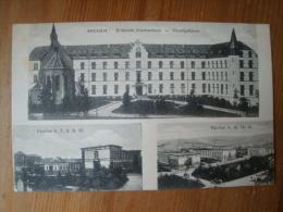 Ansichtskarte Aachen, Elisabeth Krankenhaus, Pavillin 5, 7, 8,9, 10, 11, 12, 13, 14, Gelaufen 1916 - Aachen