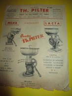 Prospectus Recto-Verso/ Instruments Agricoles/ Ecrémeuses/TH. PILTER/Paris/  Vers 1950  VP673 - Agriculture