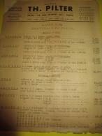 Prospectus Recto-Verso/ Instruments Agricoles/ Tarif Tondeuses à Bras Et à Moteur/TH. PILTER/Paris/  Vers 1950  VP674 - Agriculture