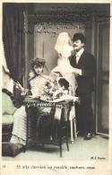COUPLE - Lot De 5 Cartes Fantaisies (scannées Recto-verso). - Cartoline