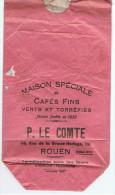 ROUEN  MAISON SPECIALE DE CAFE FINS  P. LECOMTE 116 RUE DE LA GRANDE HORLOGE - Pubblicitari