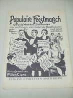 14 Partitions : Populaire Feestmarsch (Chansons Populaires Pour Piano Solo Avec Texte) - Musique Folklorique