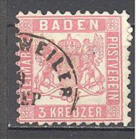 Allemagne Bade: Yvert N° 17°; Used; Cote 3.00 - Baden
