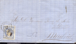 Año 1870 Edifil 107 50m Sellos Efigie Carta    Matasellos Rejilla Y Gijon Oviedo Error En El Fechador - 1868-70 Gouvernement Provisoire