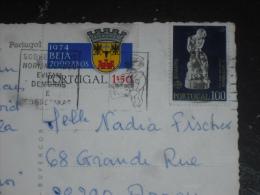 LETTRE PORTUGAL AVEC YT 1240 ET 1211 - ARMOIRIES BEJA - EUROPA SCULPTURE - LISBONNE LISBOA PONT SALAZAR - - 1910-... République