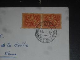 LETTRE PORTUGAL AVEC YT 781 - SCEAU ROI DENIS - CACHET ROND MANUEL PARANHOS DA BEIRA - - 1910-... République