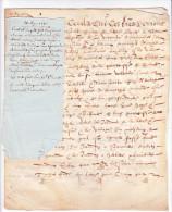 Acte Notarié Notaire Vicomté Avranche 50 France- Acquet François Marette -Saint Senier, Village Du Fresne -21 Mai 1615 - Documents Historiques
