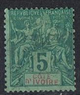 COTE-D´IVOIRE   Obl 4  Dent Courte - Costa D'Avorio (1892-1944)