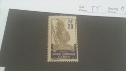LOT 226893 TIMBRE DE COLONIE GABON NEUF* N�55 VALEUR 19 EUROS