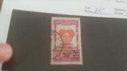LOT 226897 TIMBRE DE COLONIE GABON OBLITERE N�115 VALEUR 16 EUROS