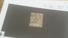 LOT 226900 TIMBRE DE COLONIE GABON OBLITERE N�28 VALEUR 17 EUROS