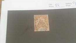 LOT 226902 TIMBRE DE COLONIE GABON OBLITERE N�24 VALEUR 17 EUROS