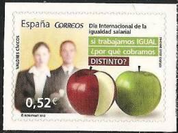 2013-ED. 4776 -VALORES CÍVICOS. DIA INTER. DELA IGUALDAD SALARIAL-NUEVO - 1931-Hoy: 2ª República - ... Juan Carlos I