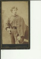 CDA58  -  CABINET  PHOTO,  CDV  --  KLAGENFURT,  AUSTRIA  -  ALOIS ERBEZNIK  - 1884  -  GENTLEMAN   --  10,5 Cm X 6,5 Cm - Alte (vor 1900)
