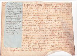 Parchemin Notaire Vicomté Avranche 50 France- Acquet Gosselin Haize & Dujardin Renard Barbe Choisnet - 20 Oct 1646