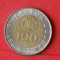 PORTUGAL  100  ESCUDOS  1990   KM# 645,1  -    (Nº08470) - Portugal