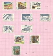 Portugal N°1373 à 1375, 1377 à 1381, 1383 à 1385 Côte 3.90 Euros - 1910-... République