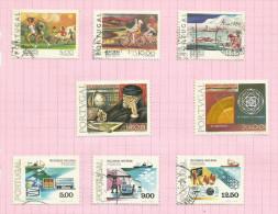 Portugal N°1387 à 1389, 1391 à 1395 Côte 3.40 Euros - 1910-... République