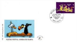 Bosnia & Herzegovina - Mostar - 1998 - World Animation Films Festival - FDC (first Day Cover) - Bosnia Herzegovina