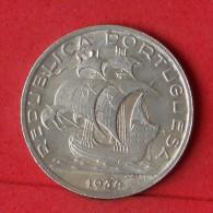 PORTUGAL  10  ESCUDOS  1954  12,5 GR - 0,835 SILVER KM# 586  -    (Nº08511) - Portugal