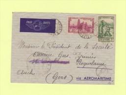 Abidjan - Cote D'Ivoire  - Controle Postal Commission D - Côte-d'Ivoire (1892-1944)