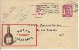 PUBLIBEL 619  Grand Alexandre Liquor - Stamped Stationery