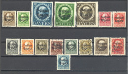 Allemagne Baviere:16 Valeurs De La Serie Yvert N° 152/70°;  Used; Cote 30.00; Voir Scan - Bayern