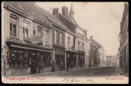 Poperinge, Poperinghe - Rue de L'Hopital - DUIDELIJKE KAART MET RODE TEKST - ZELDZAAM !!