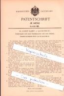 Original Patent - Fr. Albert Kampf In Quedlinburg , 1902 , Federregler Mit Zwei Pendelpaaren  !!! - Documents Historiques