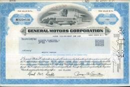 X CERTIFICATO AZIONARIO GENERAL MOTORS CORPORATION 1983 STOCK - Automobilismo