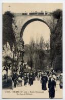 PARIS 19°--Buttes-Chaumont--Le Pont De Brique (très Animée) N°1270  éd  ????---très Belle Carte - Arrondissement: 19